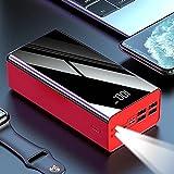 XIECUI Banco de energíaPowerbank 25000mah Mini Power Bank Portátil PD Cargador rápido Batería Externa Power BankBlanco