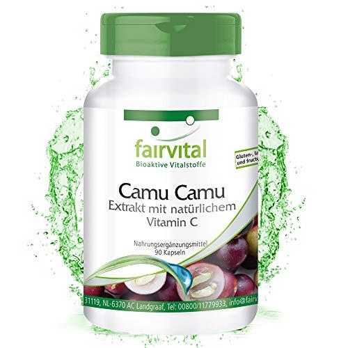 Extrait de Camu Camu 90 Gélules - Vegan - Haute Dose - Vitamine C naturelle