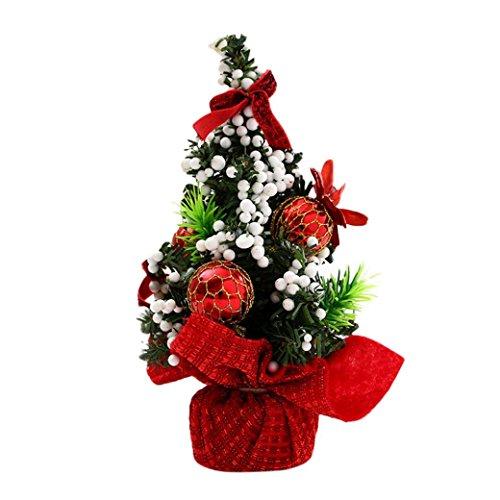 Fulltime®Poupée de jouet de décoration d'arbre de Noël pour la chambre à coucher de bureau (Rouge)