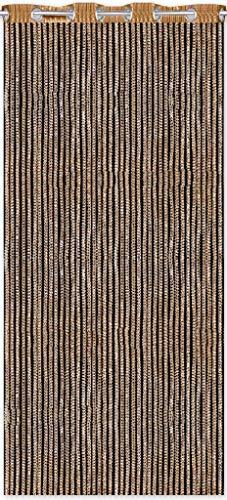 Tenda a fili effetto Lurex, per porta, con occhielli, decorazione alla moda, Poliestere, gold - gelbgold, 140 x 250 cm