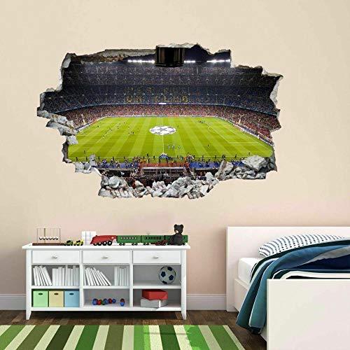 3D Barcelona Nou Camp Stadium Pegatina Dormitorio Sala De Estar Vinilo Decorativo De Fondo Pegatina De Pared 32x47inch(80x120cm)