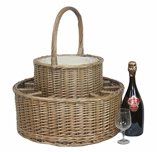 Red Hamper Chilled Drinks Picnic Basket
