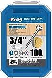 KREG SPS-F075-100 Pocket Screws, 3/4' #6 Fine-Thread, Pan-Head (100 Count), Zinc