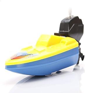 Pulabo bebé niño viento para arriba ejercicio cerebro reloj mini barco cadena barco juego agua baño piscina juguete elegan...