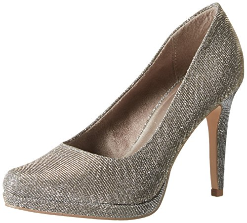 Tamaris Damen 22446 Pumps, Silber (Platinum Glam 970), 40 EU