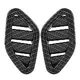 RJJX 2 UNIDS/Set Accesorios DE Coches PEQUEÑA Venta DE Venta DE Venta DE VENTILACIÓN PEQUEÑA Ajuste para MG ZS 2017-2018 Color de Fibra de Carbono Color de plástico ABS
