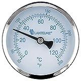 Lantelme Edelstahl Räucherthermometer für Räucherofen Räucher Thermometer Zubehör Temperaturbereich 0 bis 120 °C 7564