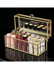 Czemo Organizer na szminki z pokrywką, przezroczysty organizer na szminki, 24 miejsca na szminki, organizer na kosmetyki