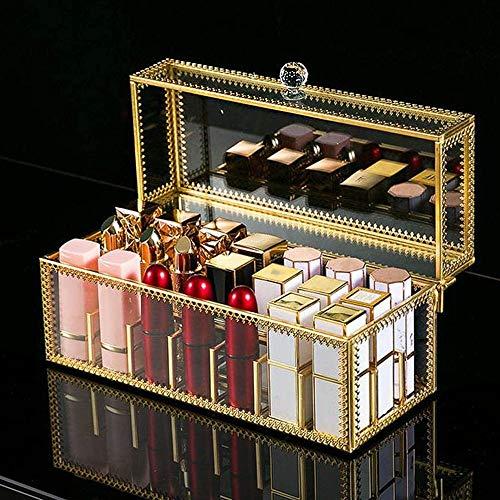 Czemo Organizador Pintalabios con Tapa Organizador de Maquillaje Transparente Soporte/Expositor para Pintalabios, 24 Compartimentos