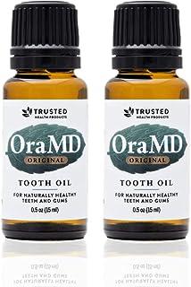 OraMD Original Dentist Recommended Toothpaste and Mouthwash Alternative for Healthy Gums & Teeth Mouthwash Breath Freshener for Bad Breath Halitosis- (15mL) - 2 Bottles
