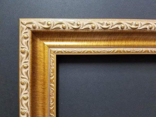 CLEARANCE SPECIAL 18' Imported Gold Leaf Ornate Solid Wood Picture Frame Moulding
