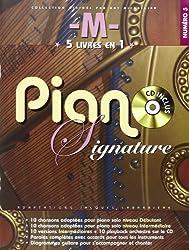 -M- Piano Signature 5 Recueils En 1 + Cd