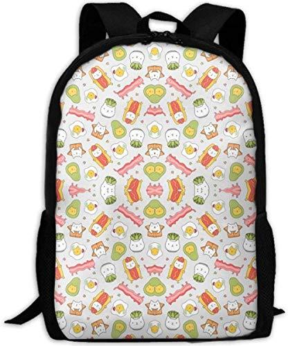 3D Gedruckter Rucksack,Stilvolle Schulrucksack,Casual Personality Daypacks Für Junge Mädchen Und Jungen,Lustiges Katzenfutter Sukkulente Muster 3D-Druck Reiserucksack College School Laptop-Tasche D