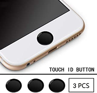 Home Button Sticker Ultra Slim Fingerprint Support Touch ID Metal (3Pack)