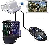 Clavier de jeu Élégant clavier portable clavier de jeu portable électronique PUBG Gamepad mobile Gaming Controller Clavier...