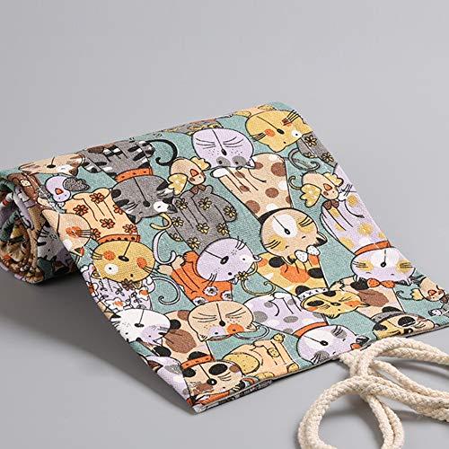 DishyKooker 24.12.36.48.72 Löcher Leinwand Bleistift Wrap Roll große Kapazität Federbeutel Beutel Kosmetik Pinsel Lagerung 48 hole articulos de producto