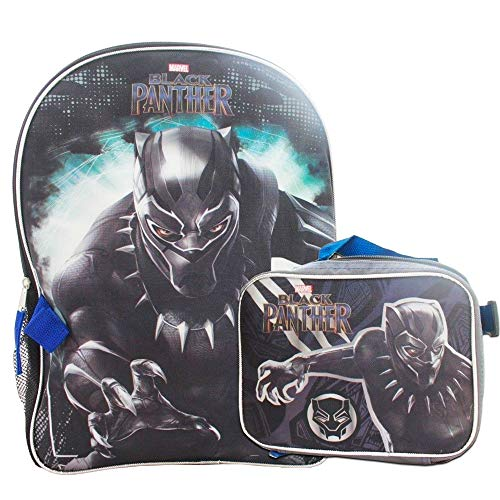 Marvel Black Panther Full Size Backpack With Matching Insulated Lunch Box