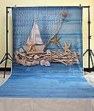 HUA PHOTO 150*300cm Madera azul fondos de fotografía de vinilo photo studio redes de pesca soporte telón de diseño único fondo fotográfico XT-3610