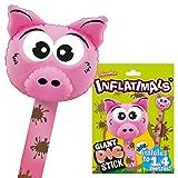 Inflatimals Animales inflables - Cerdito de Deluxebase. Juguete Inflable Gigante con diseño de Animal de Granja. Excelente Regalo para niños o como artículo Decorativo en Fiestas Infantiles