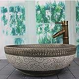 Retro-Stil Porzellan Waschbecken handgemachte Keramik Waschbecken