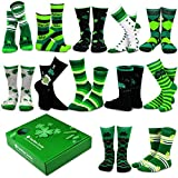 TeeHee Special (Holiday) 12-Pairs Socks with Gift Box (9-11, Patrick-A)