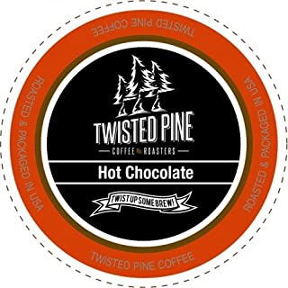 Twisted Pine Coffee Milk Chocolate , Hot Chocolate, Single-Serve Cups for Keurig K-Cup Brewers, 12 Count