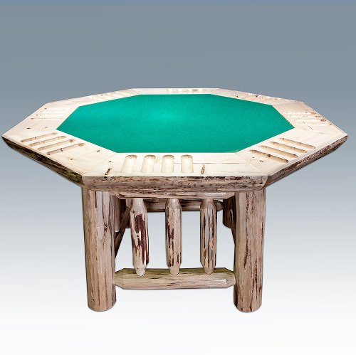 Big Sale Montana Woodworks Poker Table in Clear Lacquer