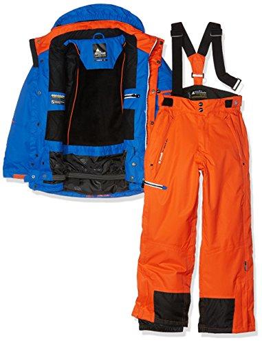 Peak Mountain - Completo maschile da sci, Ecosmic, Ragazzo, Blu/Arancione, 3 anni