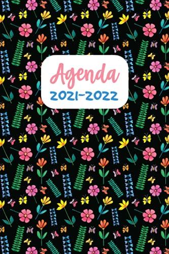 Agenda 2021-2022: Fleuri Agenda Journalier et semainier avec Calendrier 2021-2022 (Style 2) - Mini Planificateur hebdomadaire pour Femme Format A5 - 1 semaine sur 2 pages et 120 pages