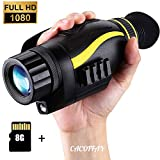 Infrared HD Night Vision Monocular Telescope Thermal Imaging 4 X 35 Outdoor Infrared Multifunction Camera Smart Digital Hunting Gear for Hun