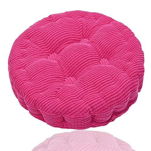 Generisch Round Pillow Chair Pad, Hanging Chair Cushion Soft Seat Pad,Comfortable Seat Yoga Meditation for Home, Kitchen, Dining Room, Office 45 * 45cm (Pink)