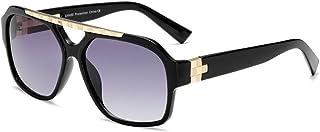 Retro Square Aviator Polarized Sunglasses for Women Men -100% UV 400 Protection