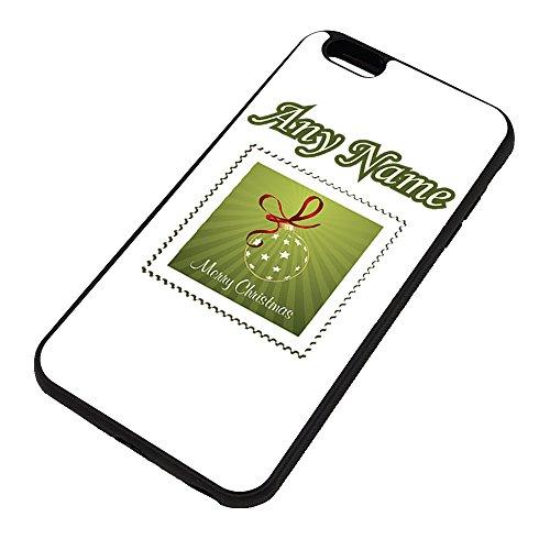UNIGIFT persoonlijk cadeau - Bauble stempel iPhone hoesje (vrolijk kerstontwerp kleur) Naam bericht unieke Apple TPU cover - bal