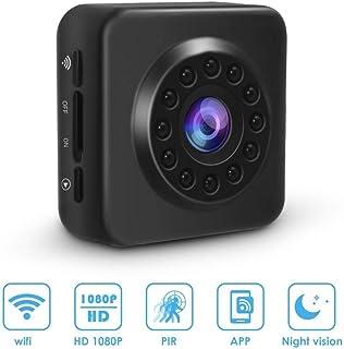 GXSLKWL WiFi Mini Hidden Wireless Spy Camera HD 1080P Security Surveillance Camera with Night Vision,Motion Detection (Col...