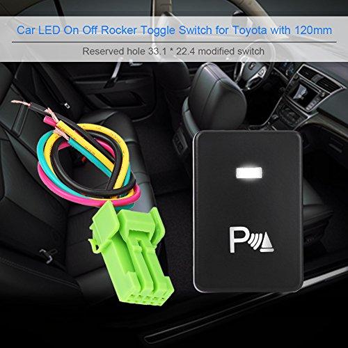 Interruttore a bilanciere, Auto LED On Off Interruttore a levetta per Camery Yaris Highlander Prius Carora(PARCHEGGIO)