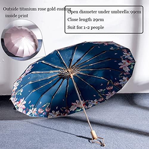 DJMJHG Paraguas Plegables Anti UV para la Lluvia, Parasol pa