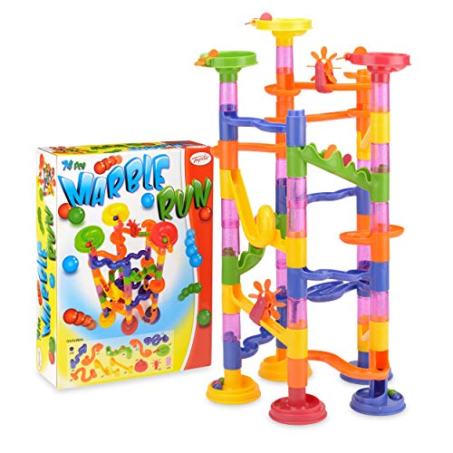 Toyrific Kids Marble Run with Safe Plastic Balls, Building STEM Toys