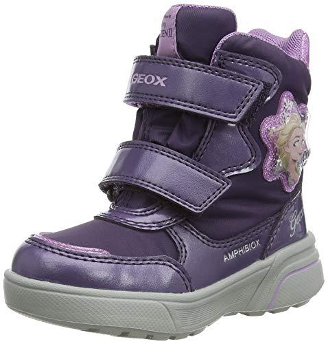 Geox J SVEGGEN Girl B ABX Snow Boot, Purple (Dk Violet/Mauve), 35 EU