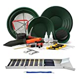 ASR Outdoor 21pc Deluxe Folding Gold Sluice Box Gold Panning Kit with Crevice Tools