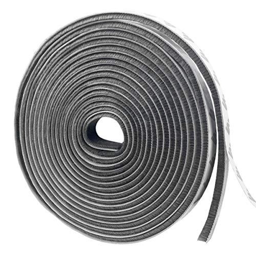 隙間 テープ 毛 ドア 窓 すき間テープ モヘア 防風 防音 防虫 毛足 気密パッキン 戸当たり (幅9mm*厚さ9mm*長さ5m)