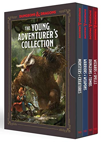 Compare Textbook Prices for The Young Adventurer's Collection [Dungeons & Dragons 4-Book Boxed Set]: Monsters & Creatures, Warriors & Weapons, Dungeons & Tombs, and Wizards & Spells Dungeons & Dragons Young Adventurer's Guides  ISBN 9781984859549 by Zub, Jim,King, Stacy,Wheeler, Andrew,Official Dungeons & Dragons Licensed