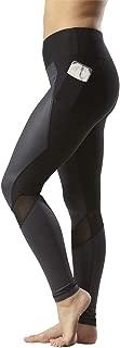 90 Degree By Reflex Fashion Yoga Leggings with Sleek Mesh Panels and Side Phone Pocket