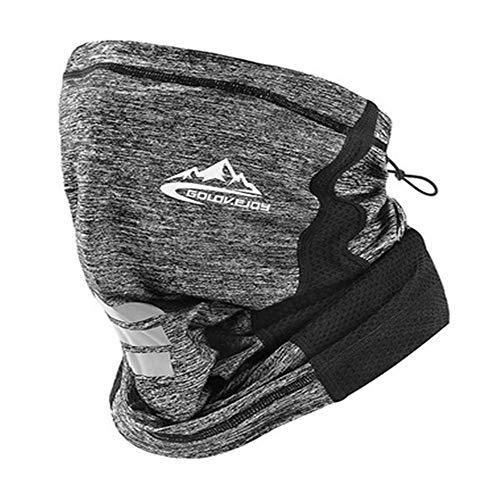 WYMAODAN Sommer Halbmaske Sturmhaube Hut Hut Nackenschutz Sonnenschutz UV-Maske Fahrrad Kopftuch Outdoor-Sportmaske (Grau-1)