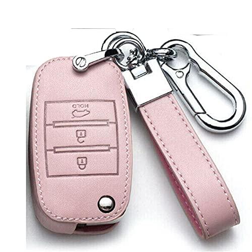 YHDNCG Cubierta de la llave del coche, 3 botonesCubierta protectora de la llave del coche, decoración de la llave del coche, para Kia Sportage 2013-2018