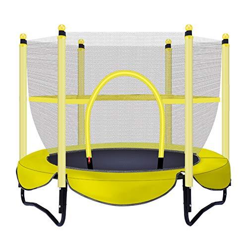 Trampolín para niños, Camas Elasticas, Cubre un área de 1,5 * 1,5 m, Carga máxima 100 kg, Fuerte y Robusto, Buena flexibilidad, Trampolín, Apto para niñosyellow