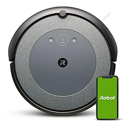 iRobot Roomba i3152 - Robot Aspirador con mapeo, Wi-Fi y Dos cepillos de Goma multisuperficie, óptimo por Mascotas, Compatible con asistentes de Voz y coordinación Imprint, Color Gris Azulado