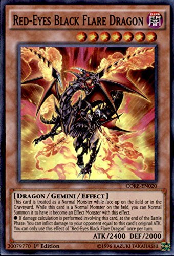 YU-GI-OH! - Red-Eyes Black Flare Dragon (CORE-EN020) - Clash of Rebellions - 1st Edition - Super Rare