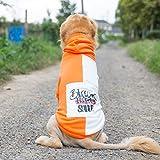 QNMM Ropa para Perros Grandes Sudaderas con Capucha para Perros Grandes Abrigos para Perros Grandes Suéteres para Perros medianos a Grandes,Naranja,5XL