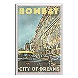 Bombay Mumbai Vintage-Reise-Poster, Skyline,
