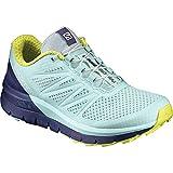 Salomon Sense Pro MAX W, Zapatillas de Trail Running para Mujer, Azul (Fair Aqua/Crown Blue/Sulphur Spring), 36 EU